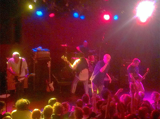 Guided By Voices in swagger on the Paradise stage. (Photo - D. Hixon)